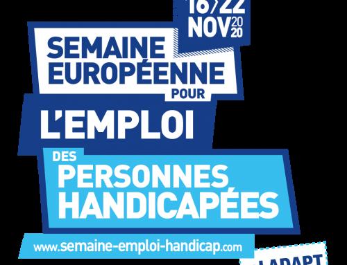 16-22 novembre 2020 – 24eme semaine européenne pour l'emploi des personnes handicapées